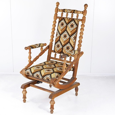 Antique Oak Dexter Rocking Chair