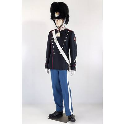 Mannequin in Danish Royal Life Guards Dress with Sergeant Insignia