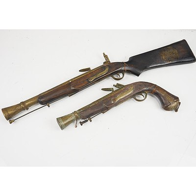 Modern Ornamental Pistol and Shotgun