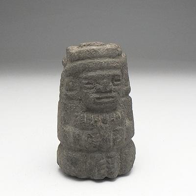 Aztec Style Carved Stone Effigy