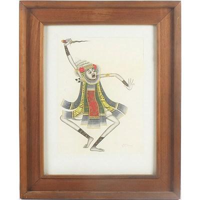 I Ketut Rudin (Indonesian 1918-) Balinese Dancer, Watercolour