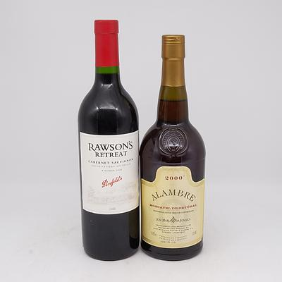 Penfolds Rawson's Retreat Vintage 2005 Cabernet Sauvignon 750ml and Alambre 2000 Moscatel De Setubal 750ml