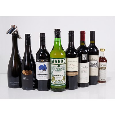 Group of Eight Various Wines and Mixes