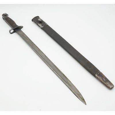 British WWI Wilkinson 1907 Pattern Sword Bayonet and Scabbard