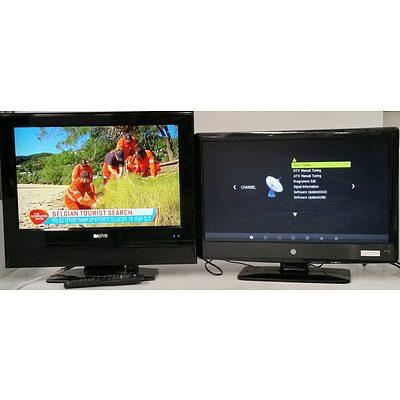 Sanyo 22 Inch and AWA 24 Inch LCD Televisions
