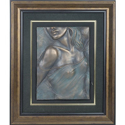 Bill Mack (1944-) Elegant, Bonded Bronze Resin Bas Relief