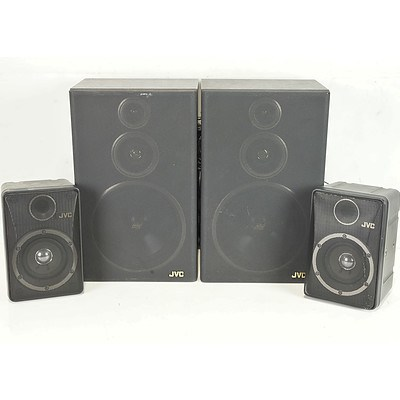 Two Pairs of JVC Speakers