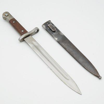 Turkish Askari Fabrika M1935 Bayonet and Scabbard