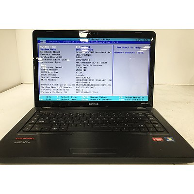 Compaq Presario CQ62 15.4 Inch Widescreen AMD Athlon II P360 Dual-Core 2.3GHz Laptop