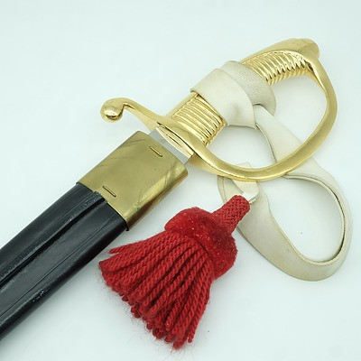 German WKC Ceremonial Sabre with Scabbard for the Danish Royal Life Guards