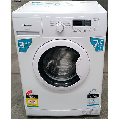 Hisense 7.5 Kg Front Loader Washing Machine