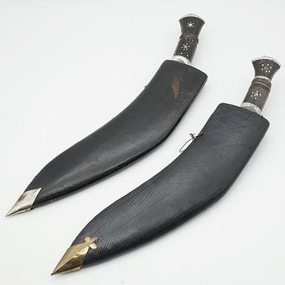 Two Kukri Knives
