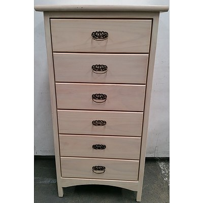 Pine Six Drawer Tallboy