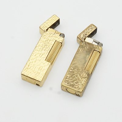 Two Vintage Dunhill Lighters
