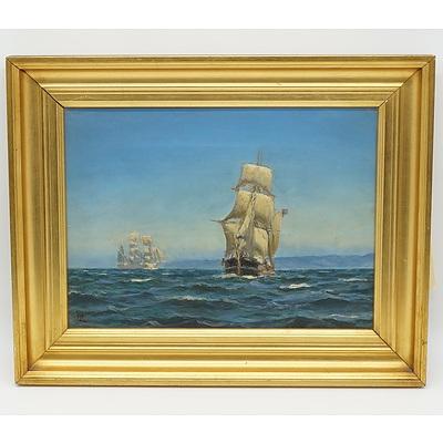 Marine Painting, Oil on Canvas