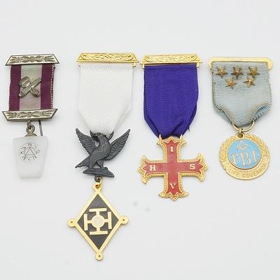 Four Masonic Medals, Including FBI Life Governor