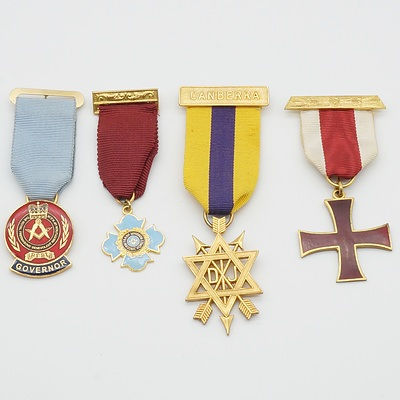 Four Masonic Medals