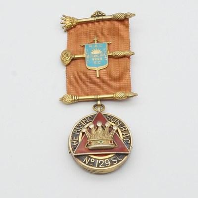 Masonic The Rising Sun RAC No 129SC Locket Medal