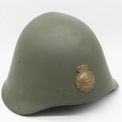 WWII Greek M-34 Steel Helmet