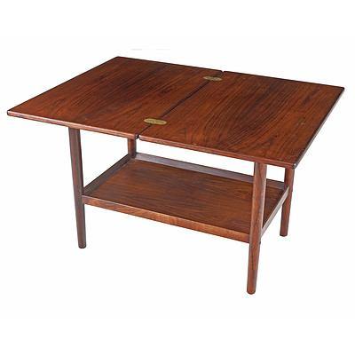 Teak and Rosewood Folding Coffee Table Designed By Grete Jalk For Poul Jeppesen Denmark
