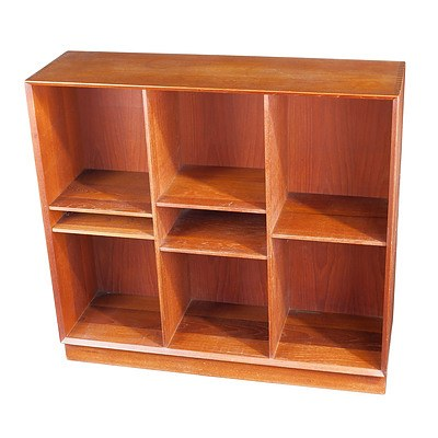 Danish Teak Bookcase with Exposed Finger Joints