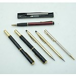 Group of Pens Including Cross