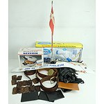 Large Group of Homewares Including Picture Frames, Lamp Shades, Serving Trays, and More