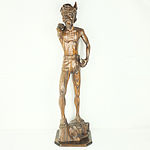 Large Balinese Carved Macassar Wood Male Figure