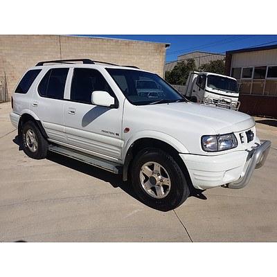 10/2001 Holden Frontera SE (4x4) MX 4d Wagon White 3.2L