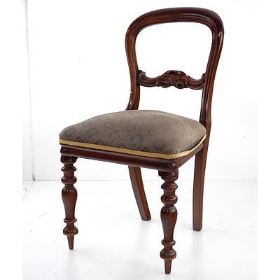 Australian Cedar Balloon Back Dining Chair, 19th Century