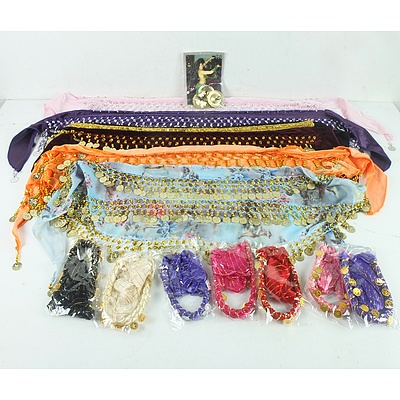 Group of Belly Dancing Skirts and Headbands
