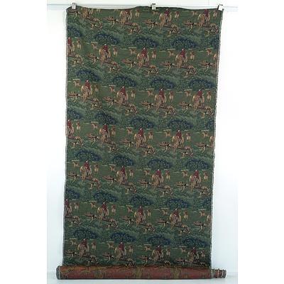 English Hunting Scene Tapestry
