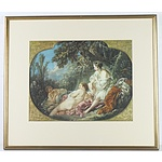 Set of Four Francois Boucher The Four Seasons Offset Prints