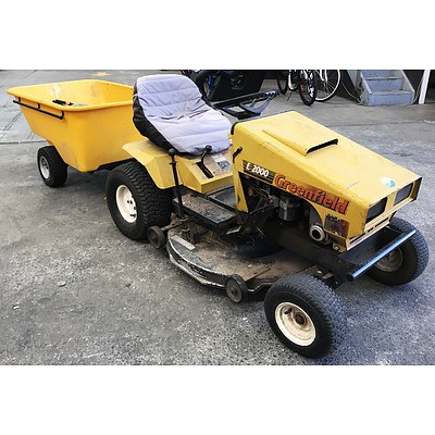 Greenfield E2000 MK2 Ride-On Lawnmower with Trailer