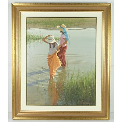 Ron Van Gennip (1950-) Oil On Canvas Board