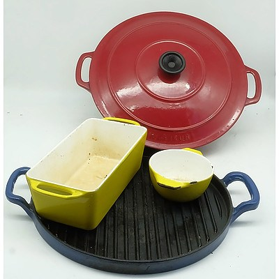 Enamelled Cast Iron Cookware, Including Chasseur and Copco Michael Lax Denmark