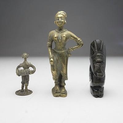 Group of Three Various Ethnographic Effigies