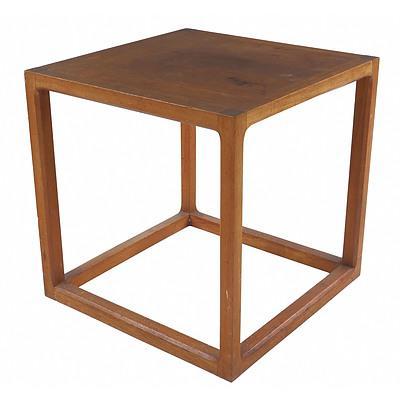 Danish Teak Square Side or Lamp Table
