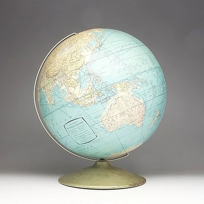 Vintage Rand McNally World Globe