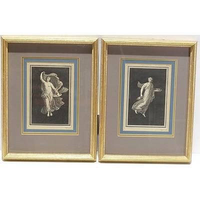 Pair of Well Framed Antiquarian Engravings