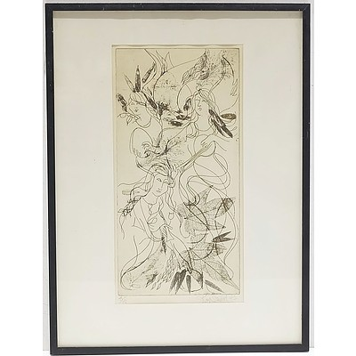 Artist Unknown Etching Edition 3/10 Signed Stewart And Dated 73