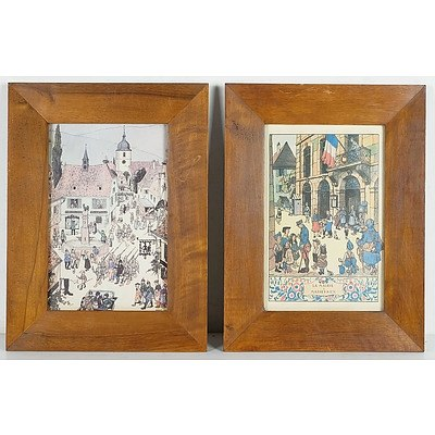 Tout Hansi (French 1873-1951) Framed Lithographs And Accompanying Book