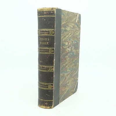 Antique Gilt Tool Leather Bound The Poetical Works of Lord Byron