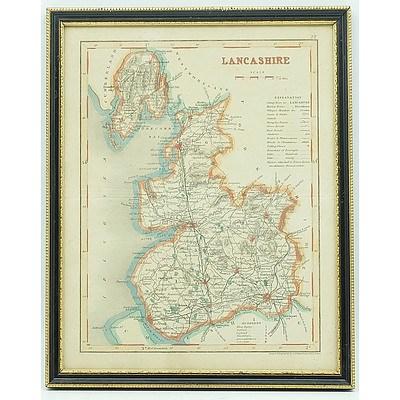 Antiquarian Map of Lancashire