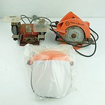Black & Decker Circular Saw, Sturdee Bench Grinder and A Visor/ Ear Muff Protector