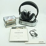 Philips HC8540 Rechargeable Headphones, Including a Group of CD's and Record Tapes