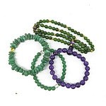 Three Gemstone Bracelets and a Necklace