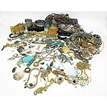 Large Group of Jewellery, Including Shell Earrings, Cigar Cutter, Cloisonn? Bangles and More