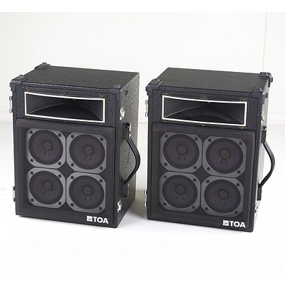 Pair of Toa RS-20 400w 8ohm PA Speakers