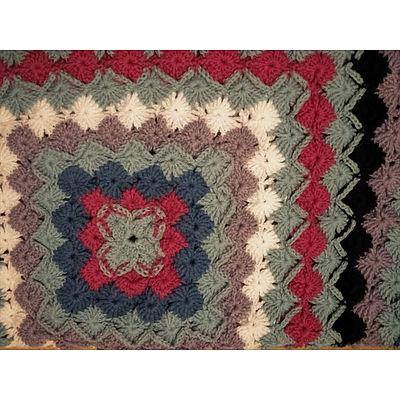 Hand Crotcheted Bavarian Blanket